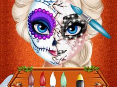 Elsa Halloween Face Makeup Play Elsa Halloween Face Makeup Online